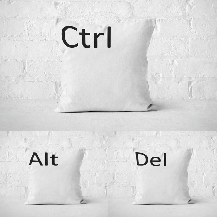 Ctrl, Alt, Del Pillow Covers by But Why Not