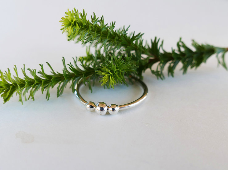 Three Bubble Urchie Stacking Ring by Kinkel Jewellery