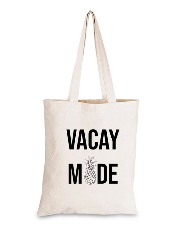 Vacay Mode Pineapple 100% Cotton Tote bag shopper gift  by Love & Sparkles