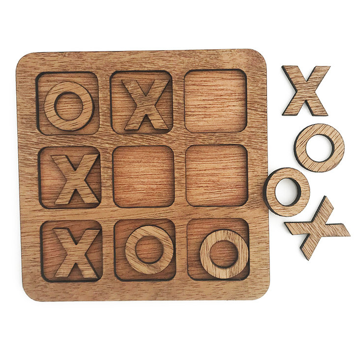 Wooden Tic-tac-toe - XOXO (FREE SHIPPING) by Nice