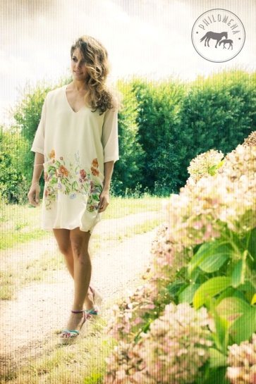 Mary Tunic Ivory Floral by Philomena