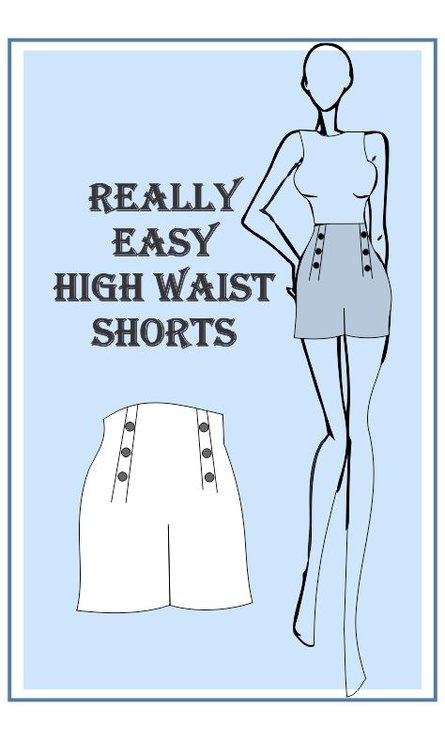 Really Easy High Waist Shorts Sewing Pattern Hello Pretty Buy Design Amazing High Waisted Shorts Pattern
