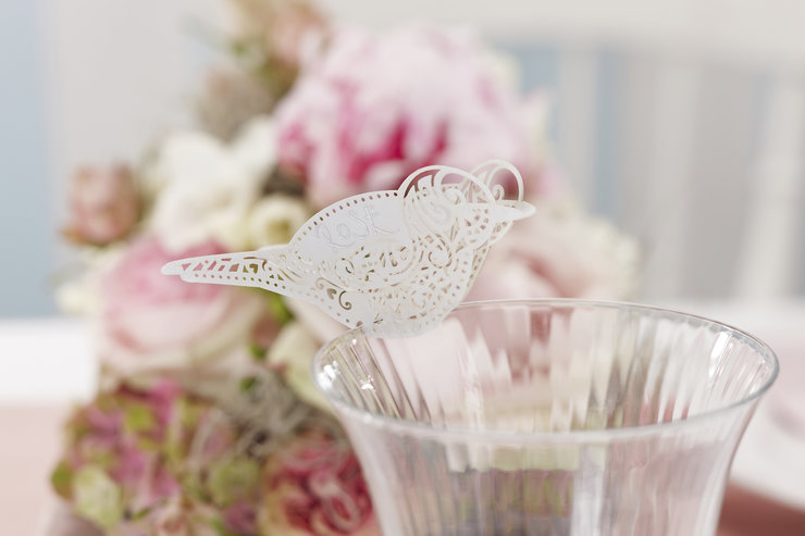 Vintage Lace - Place Card for Glass by Ginger Ray