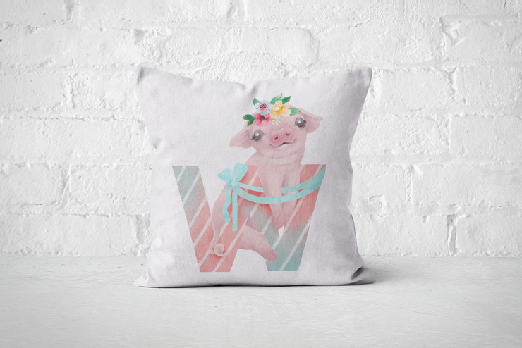 Pretty Letters Pillow Cover - W by But Why Not