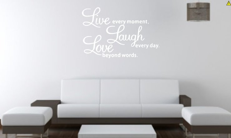 Charming Live Laugh Love Wall Decal By Brand It Pro