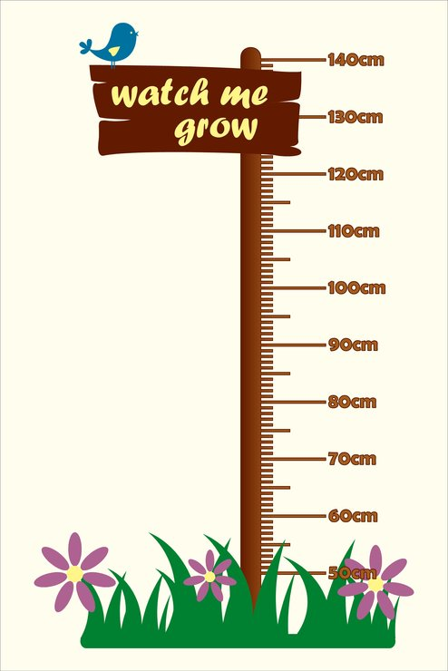 Watch Me Grow Growth Chart By Nevertheless Canvas And