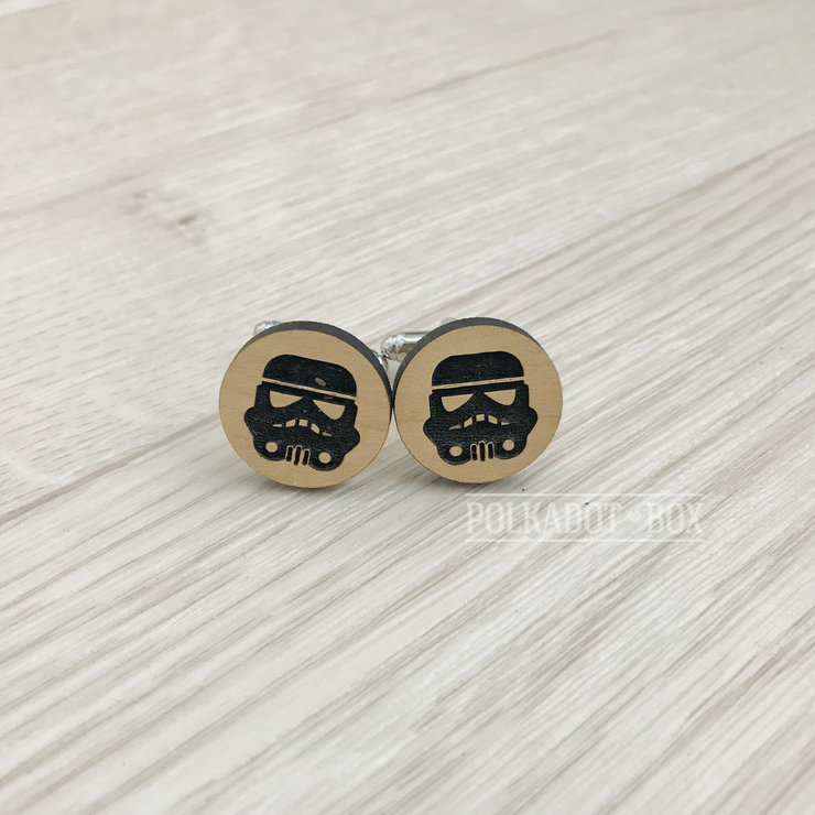Storm Trooper Cufflinks   by Polkadot Box