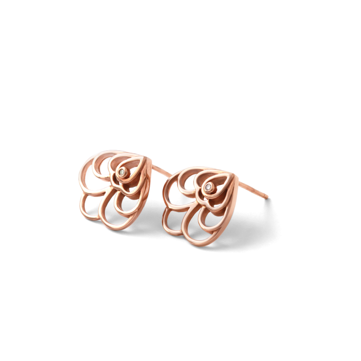 0b890011f Floral Studs - 18ct Rose Gold Plated Sterling Silver | Hello Pretty ...