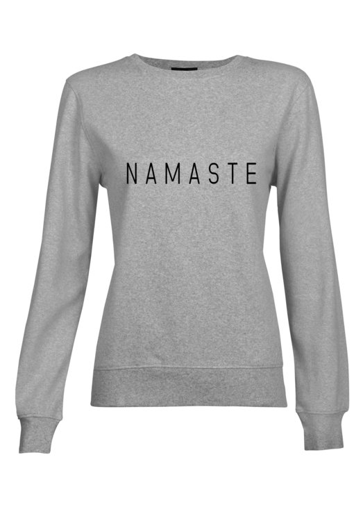 Namaste Grey Sweat Top Yoga Fashion fitness pullover by Love & Sparkles