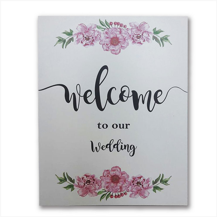 Floral Welcome Wedding sign   by Polkadot Box