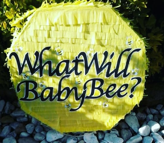 What will baby bee geometric Pinata by Piñatas Galore