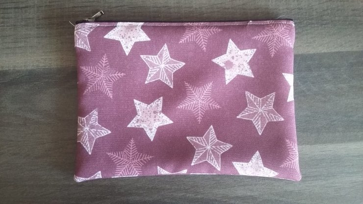 A5 Purple Stars Pencil Bag   by But Why Not