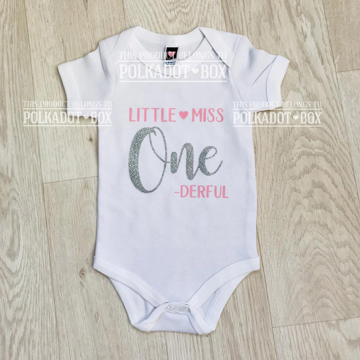 first birthday onesie by Polkadot Box