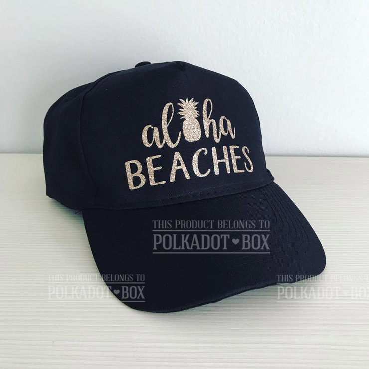 Aloha beaches peak cap   by Polkadot Box