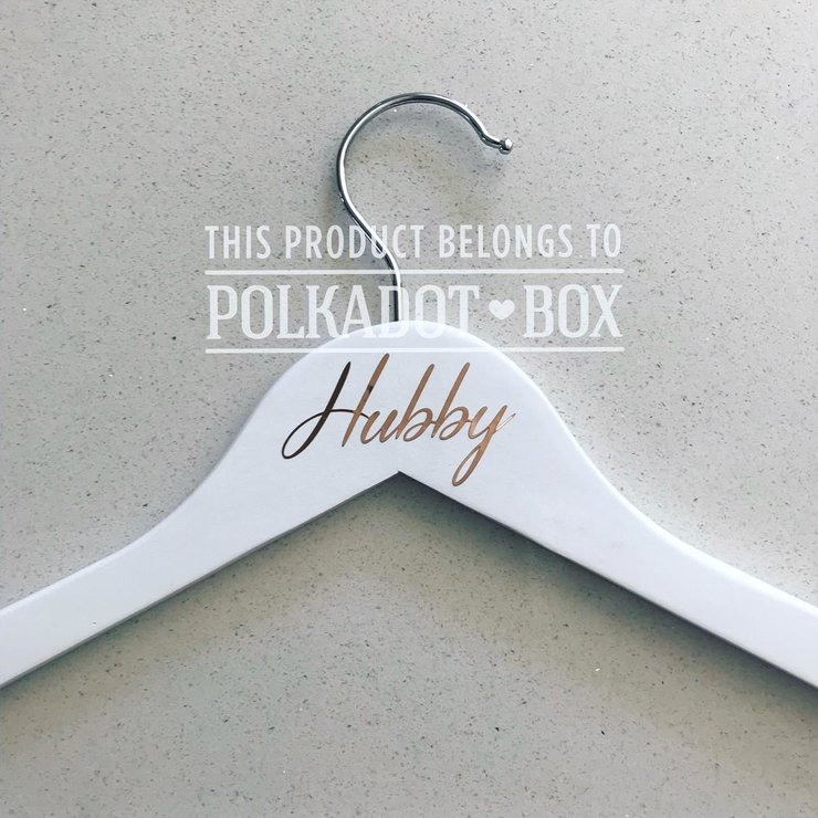 Rose Gold Vinyl Hubby Hanger   by Polkadot Box