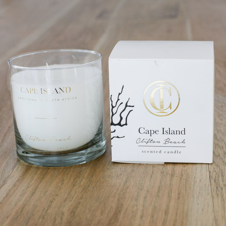 Clifton Beach scented candle by Cape Island designs