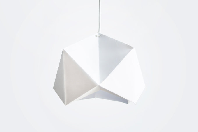 """Sicily"" - An Origami Lampshade by White On Rice"