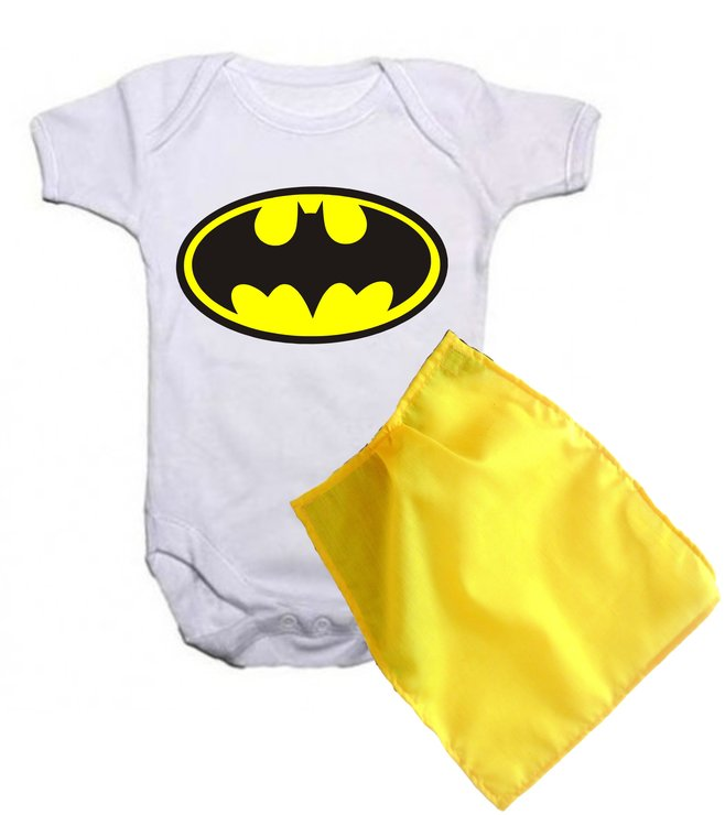Batman baby grow with yellow cape by Qtees Africa (Pty)Ltd