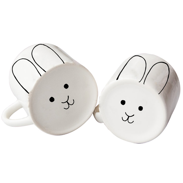 Mom & Toddler Bunny Mug set by Sugar and Vice