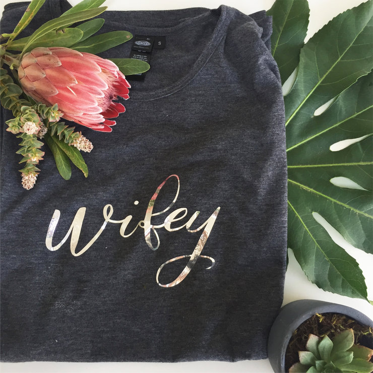 Wifey T Shirt by Love & Sparkles