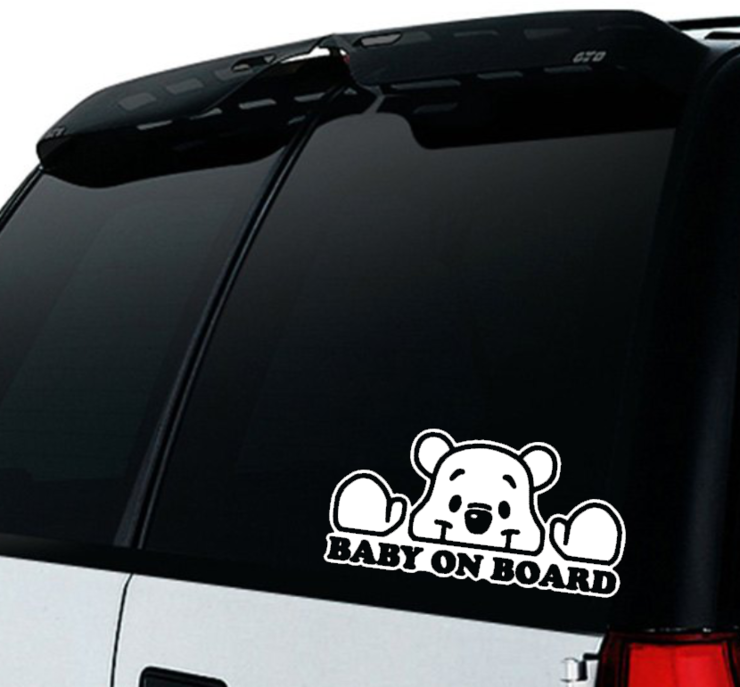 Baby on Board Car decal Sticker / Winnie the Pooh Baby on board/ Car decal  by Little Lion Cub Boutique