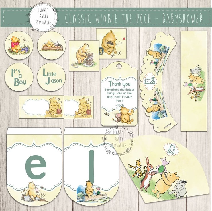 WINNIE THE POOH ORIGINAL By ICandy Party Printables