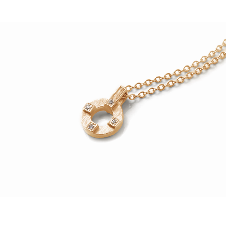 Double Sided Circle of Life Diamond Pendant - 18ct Yellow Gold Plated Sterling Silver by WHYJewellery