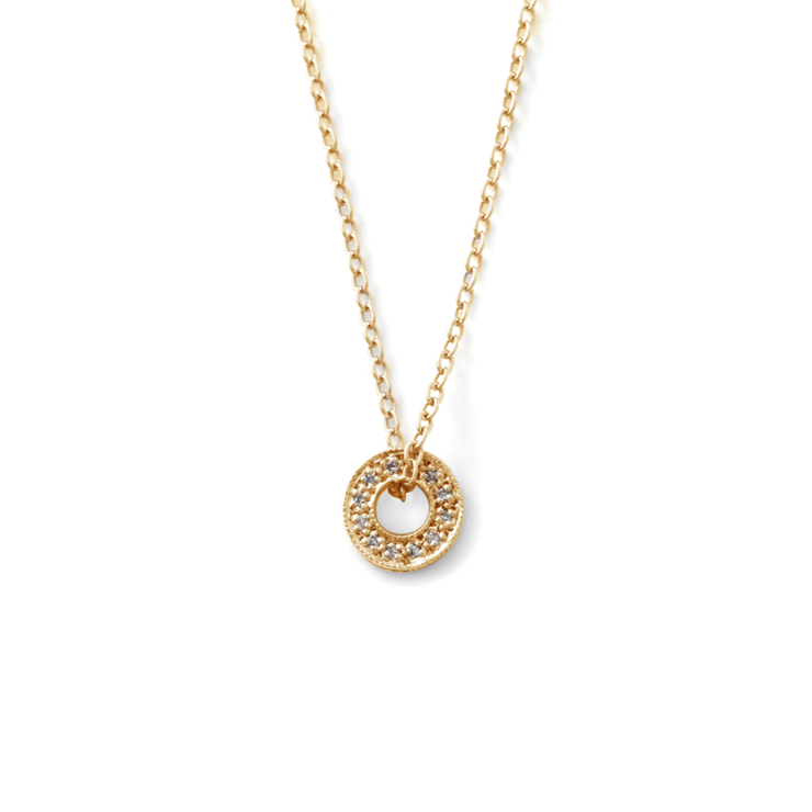 b8e3c6a224a71 Double Sided Diamond Circle of Life Pendant - 18ct Yellow Gold Plated  Sterling Silver
