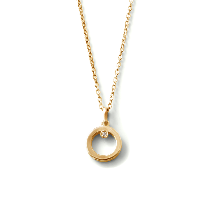 Why her shapes collection yellow gold plated round diamond why her shapes collection yellow gold plated round diamond pendant and chain by mozeypictures Image collections