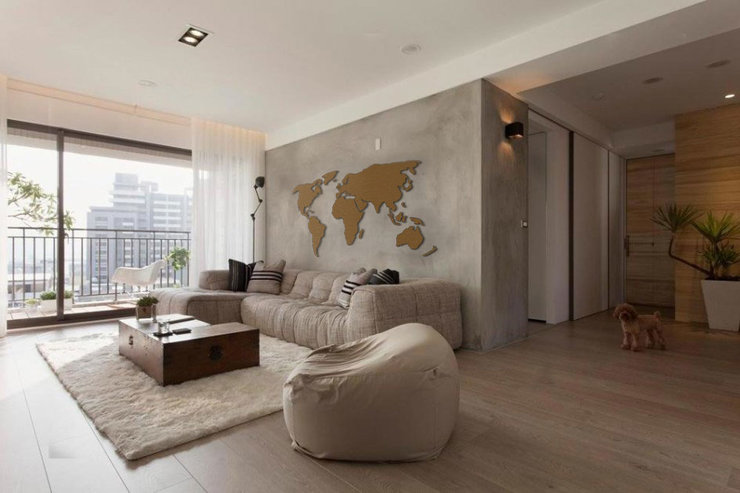Wood World Map Cut Out.Wooden World Wall Map Small Hello Pretty Buy Design