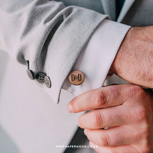 Wooden Cufflinks by Papermoon