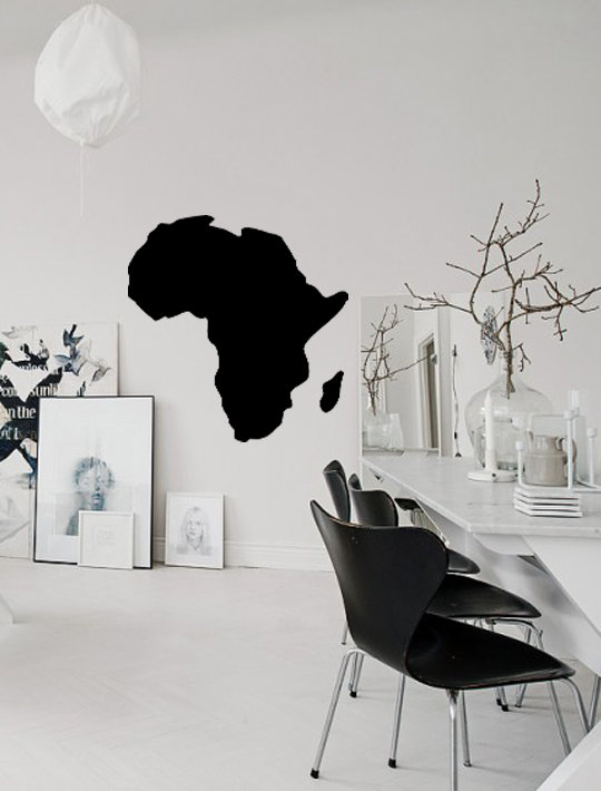 World Map Africa Continent By That Little Decor Company