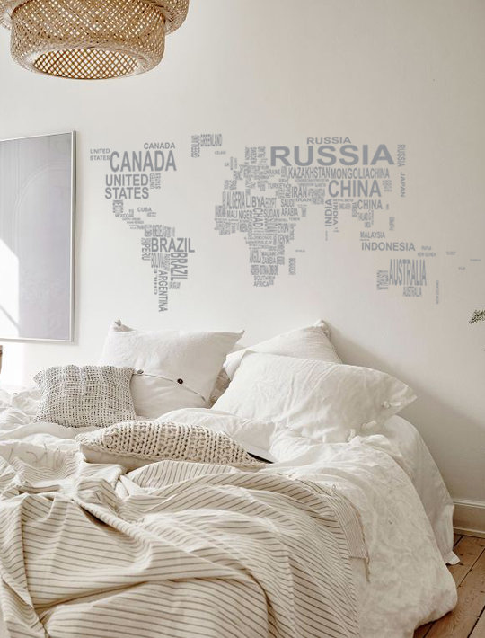 World map typo continents black hello pretty buy design world map typo continents black by that little decor company gumiabroncs Images
