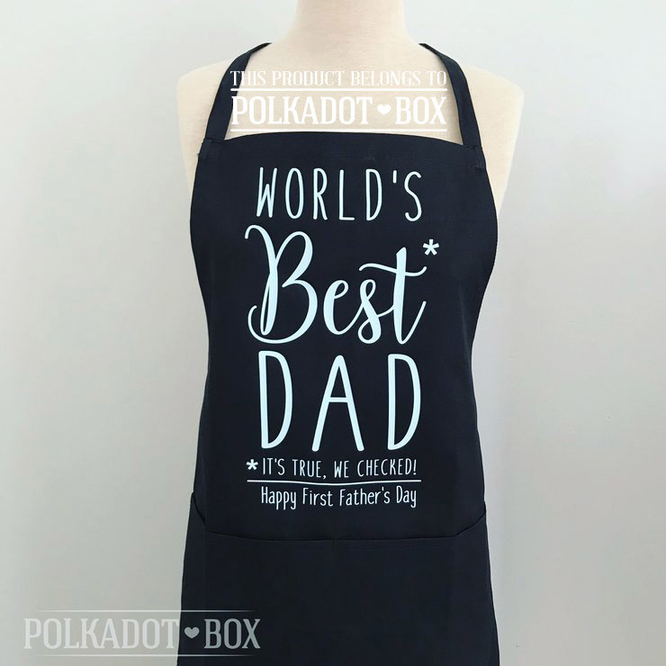 Custom Dad Apron by Polkadot Box