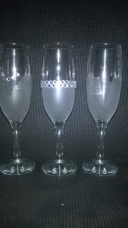 Wedding Party Toast Champagne Glass Set by Brand It Pro