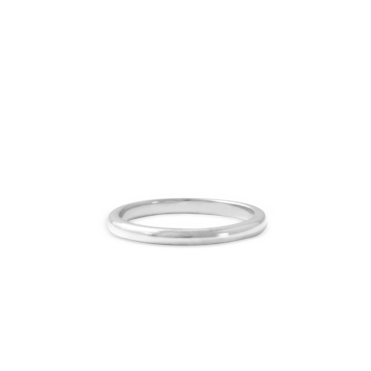 Plain Band - Palladium Plated Sterling Silver by WHYJewellery