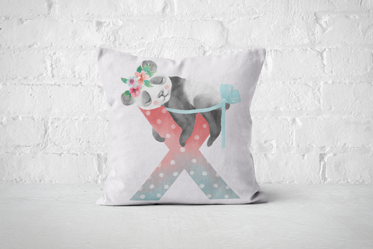 Pretty Letters Pillow Cover - X by But Why Not