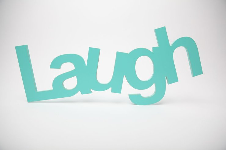 Wooden Word Laugh By Bokke Amp Blomme