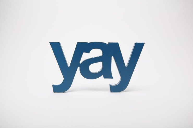 wooden word - yay by Bokke & Blomme