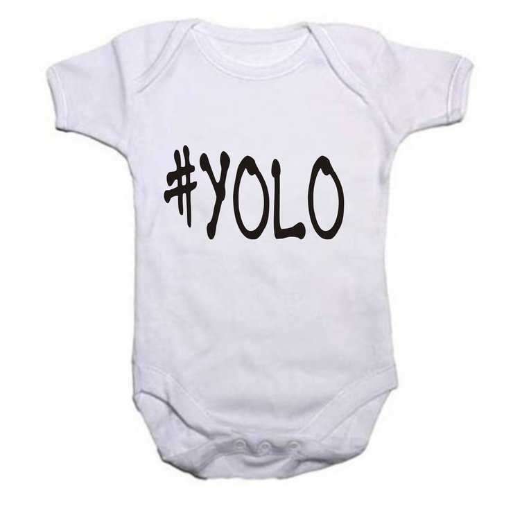 #YOLO baby grow by Qtees Africa (Pty)Ltd