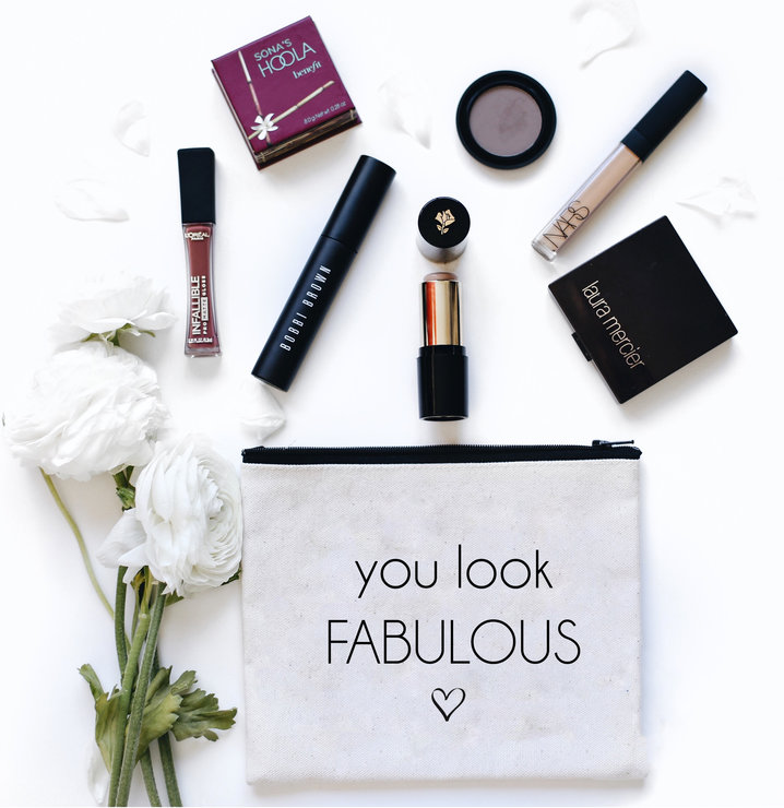 You look Fabulous cotton make up bag gift bridesmaid birthday  by Love & Sparkles