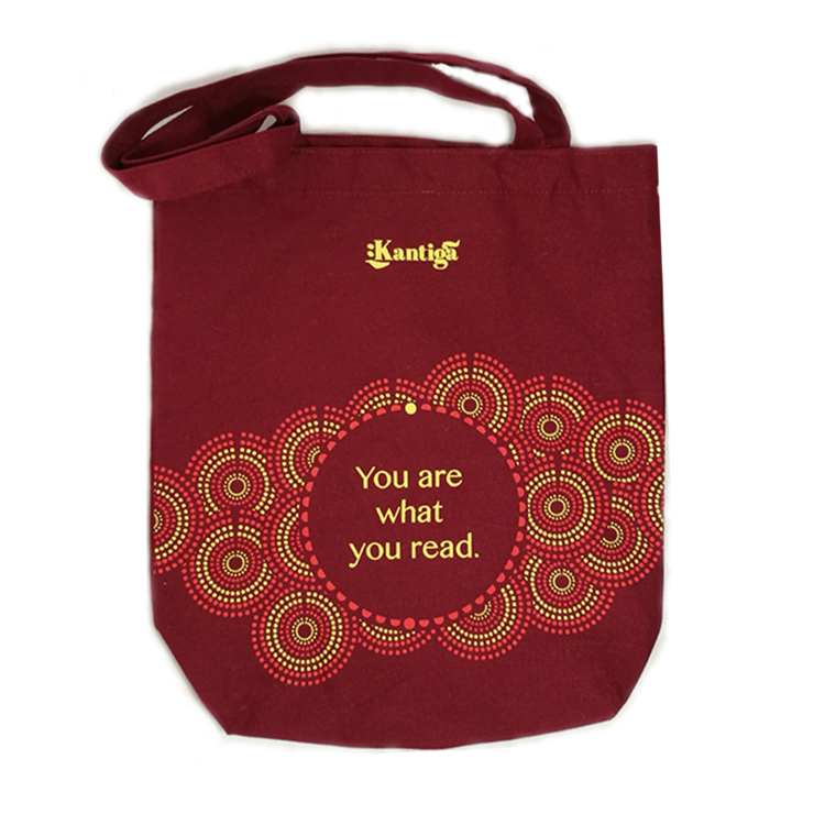 You are what you read Maroon Tote Bag by Kantiga