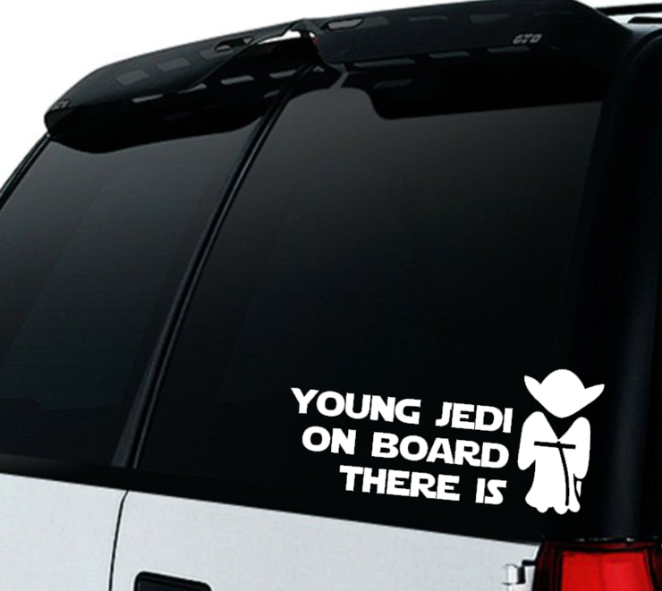 Star Wars Baby On Board Car Decal Sticker Young Jedi On