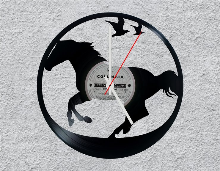 Horse LP Vinyl Clock by Uber Cool Design