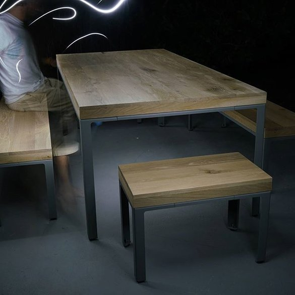 Indie Table - White Oak - (including benches)