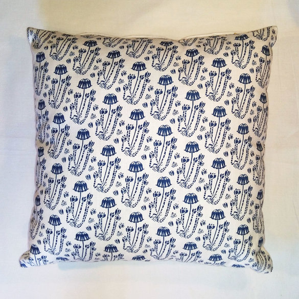 Blue Cotyledon scatter cushion cover