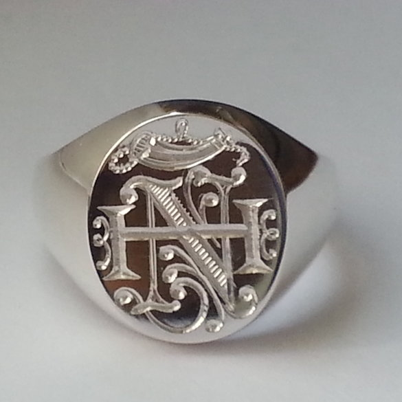 "Your vision and our skills will create a Masterpiece ""hallmarked sterling silver heavyweight signet ring"""