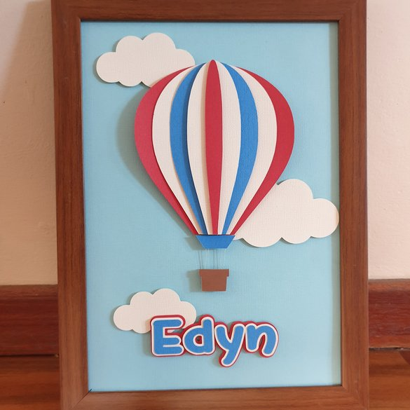 Hopeful Hot Air Balloon - Kids Bedroom Decor