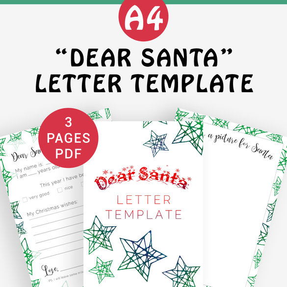 Dear Santa Printable Letter Template Write A Letter To