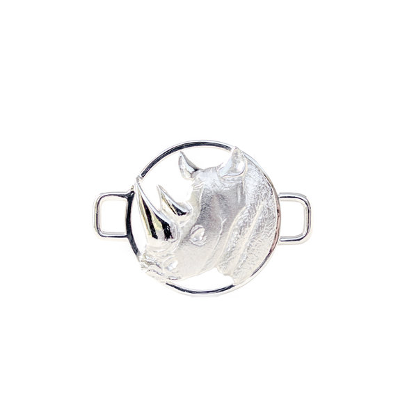 Sterling Silver BradDaShey interchangeanle face piece  for bangle Rhino